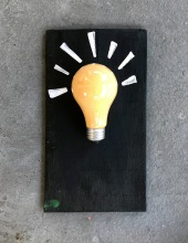 'Bright Idea' - Found Object Art
